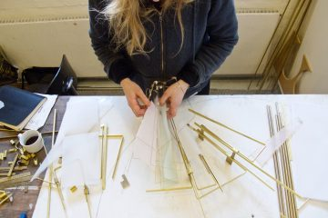 kaja skytte brass design construction danish art workshop