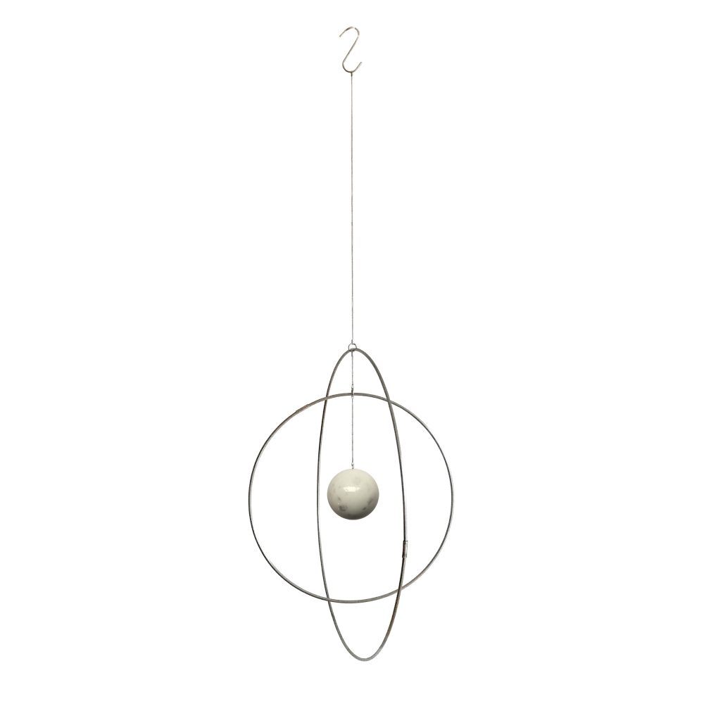 Hanging Galaxy Globe in messing and marble handmade by Kaja Skytte design