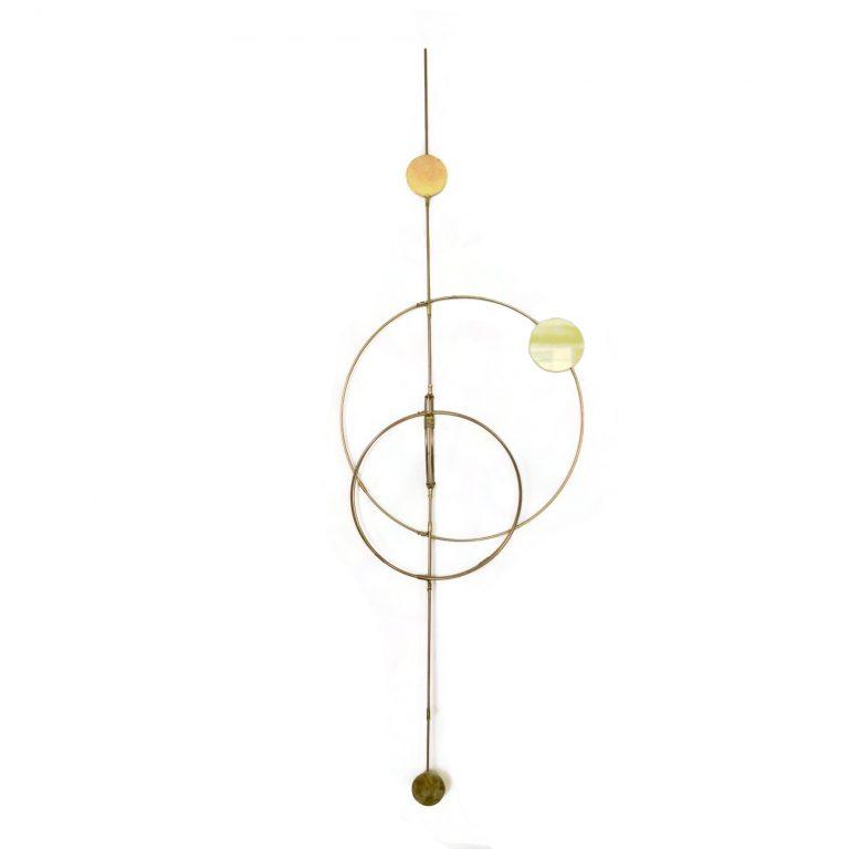 Kaja Skytte Wall Orbit Brass Art Home Hanging decoration Plants Planteplaneter København Design For her Unik Gaveidéer Inspiration Minimalism Galaxy Globe Scandinavian Danish Julegaveidé Fri fragt