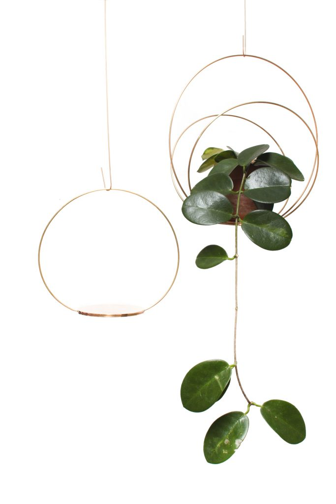 Kaja Skytte Circle Podium Brass Hangin Plate Plant Decoration Danish Design Christmas gift