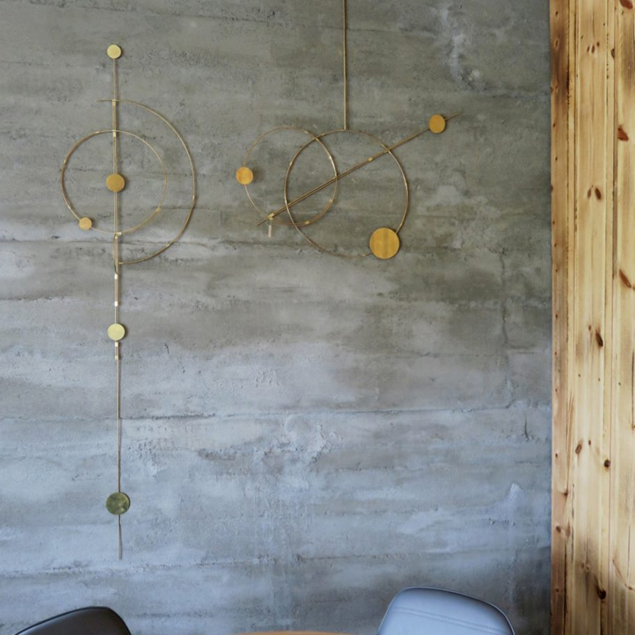 Handmade wall art in brass handmade by Kaja skytte design