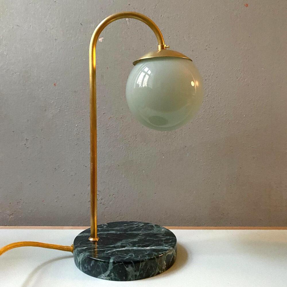 Green marble lamp danish design Kaja Skytte
