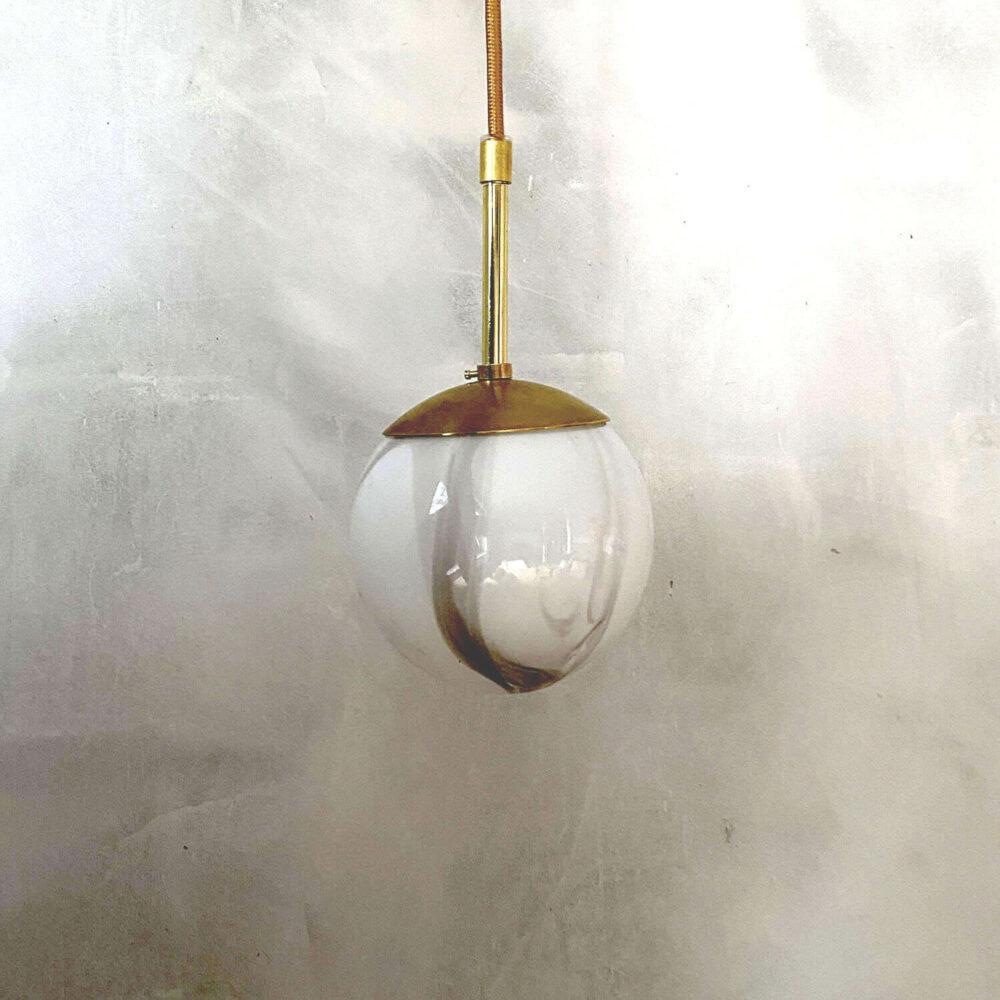 Lamp pendal white grey Danish design Kaja Skytte