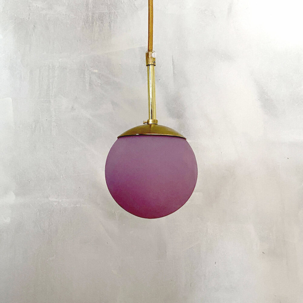 Purple lamp danish design kaja skytte