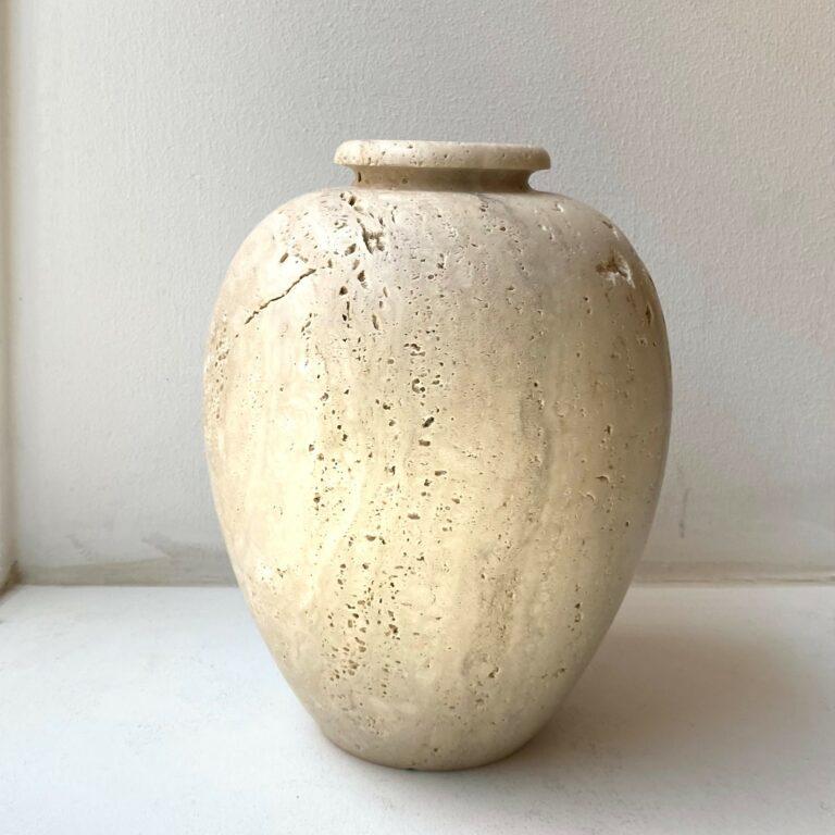 Travertine Vase
